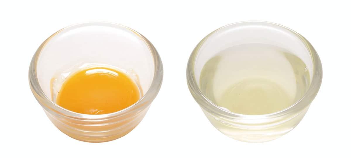 Egg without yolk